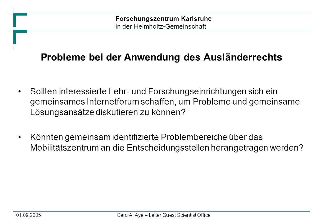 Probleme bei der Anwendung des Ausländerrechts