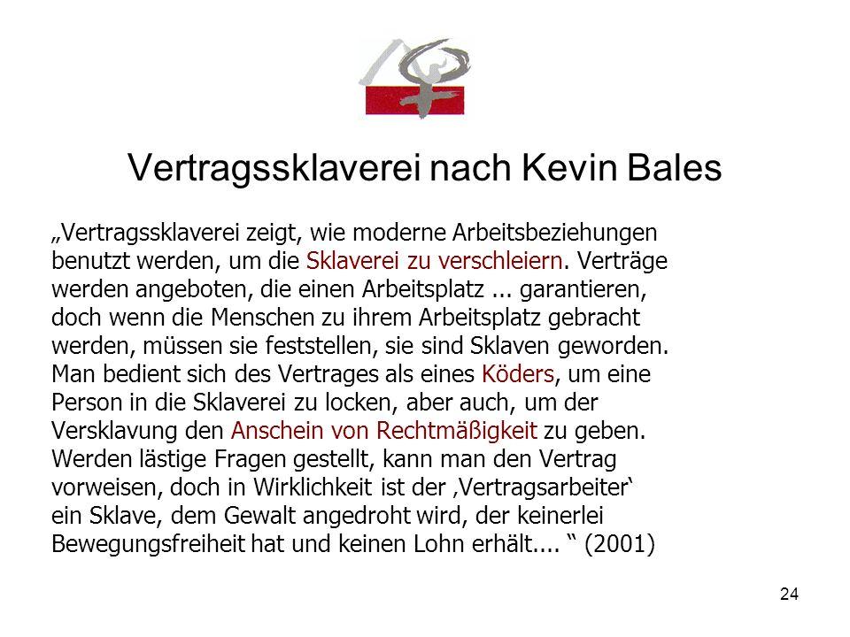 Vertragssklaverei nach Kevin Bales