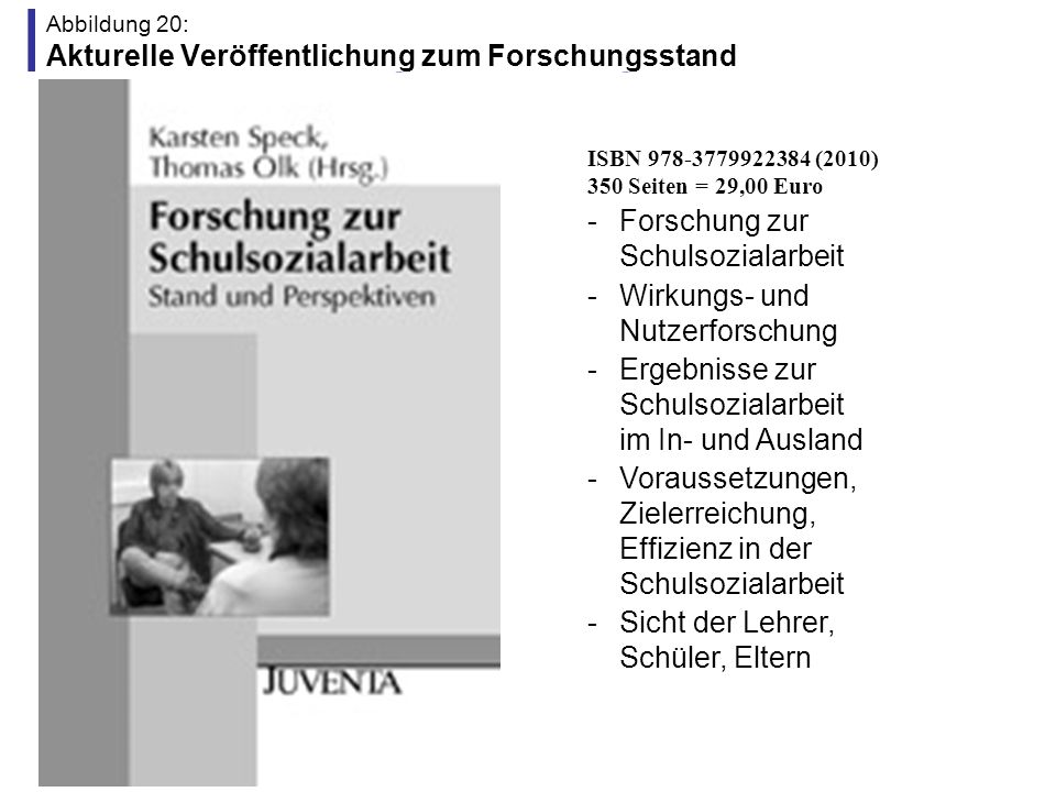 Abbildung 20: Akturelle Veröffentlichung zum Forschungsstand