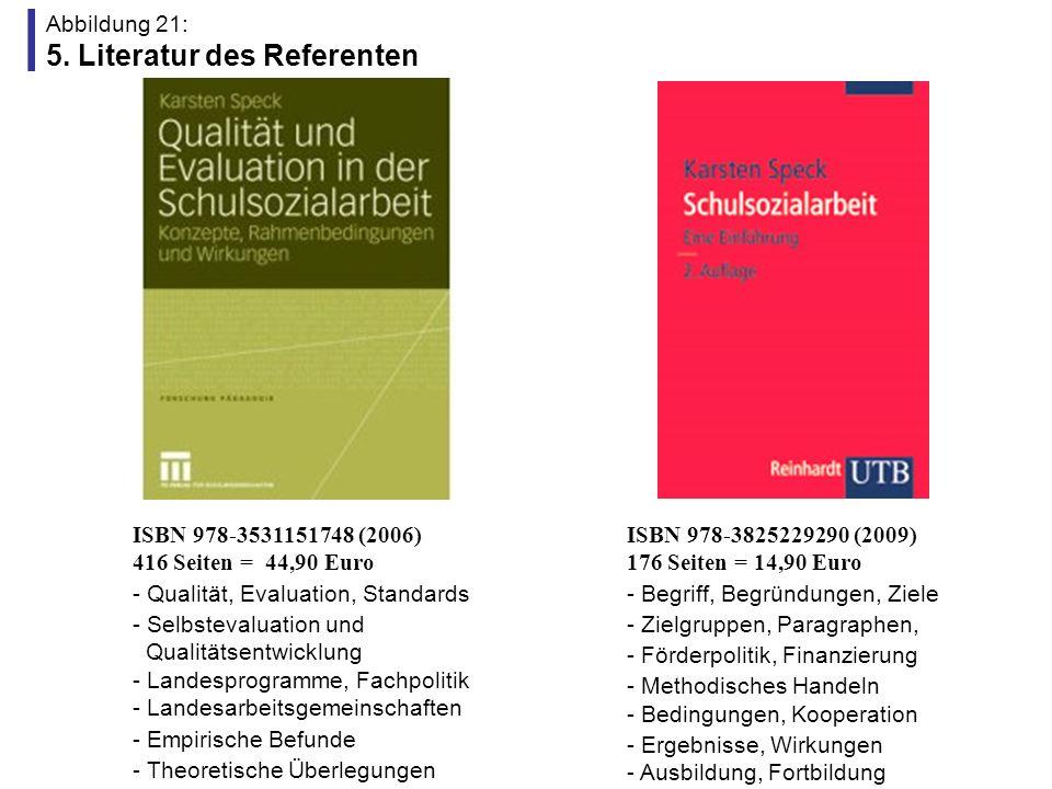 Abbildung 21: 5. Literatur des Referenten
