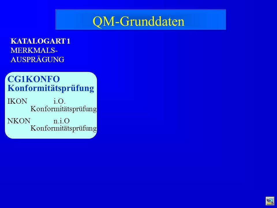 QM-Grunddaten CG1KONFO Konformitätsprüfung KATALOGART 1
