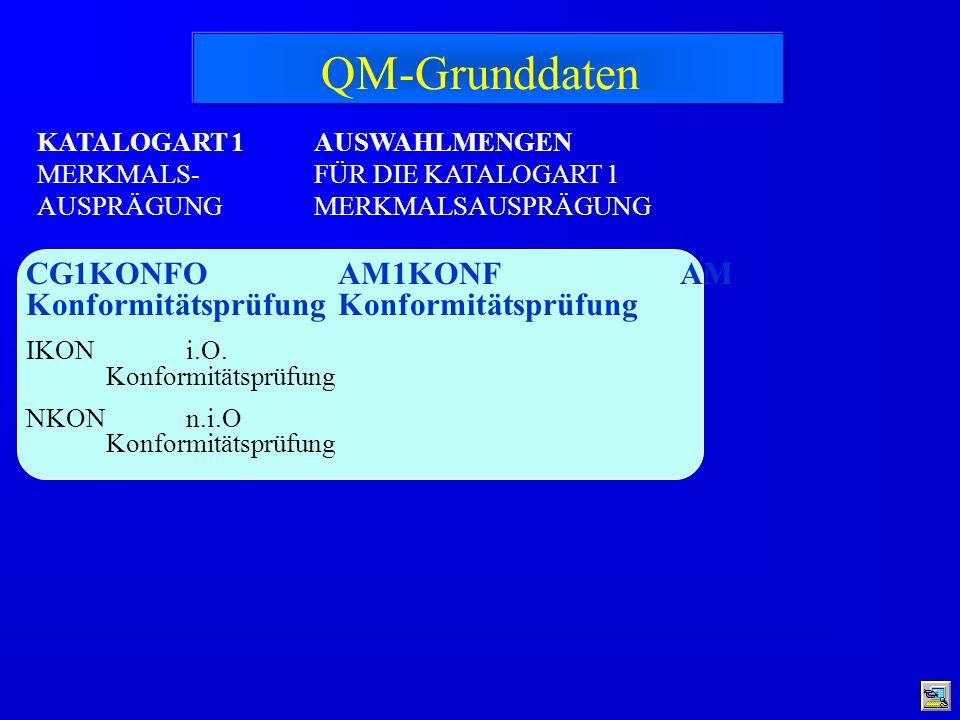 QM-Grunddaten CG1KONFO Konformitätsprüfung