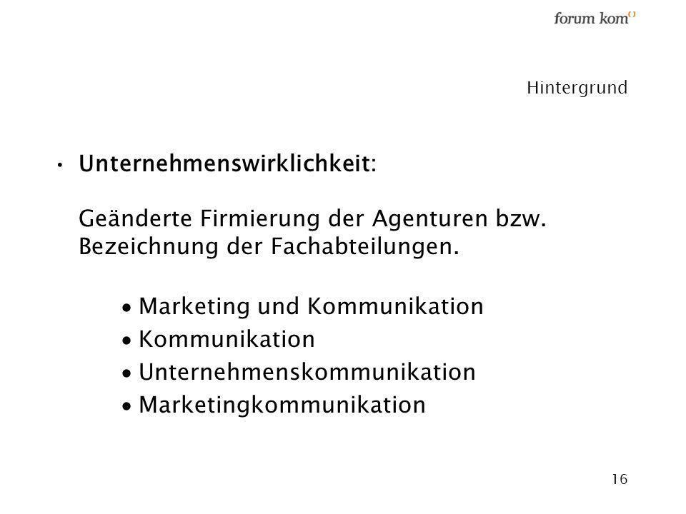 Marketing und Kommunikation Kommunikation Unternehmenskommunikation