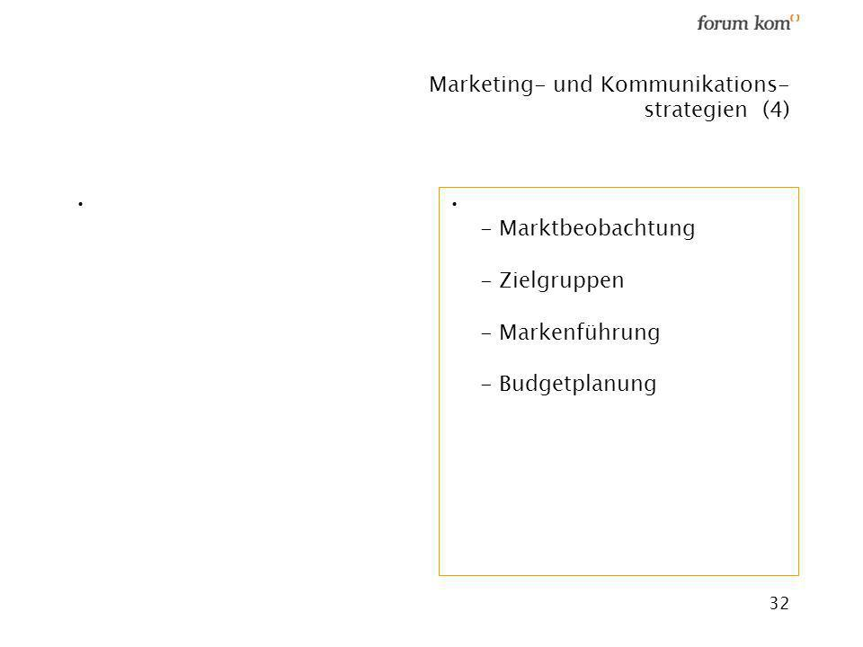 Marketing- und Kommunikations- strategien (4)