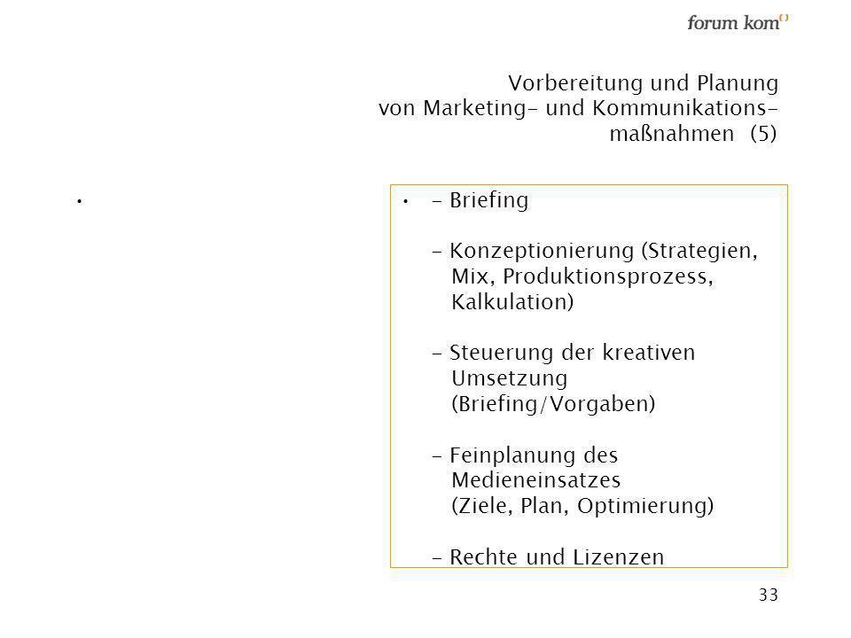 Vorbereitung und Planung von Marketing- und Kommunikations- maßnahmen (5)