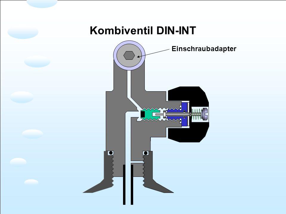 Kombiventil DIN-INT Einschraubadapter
