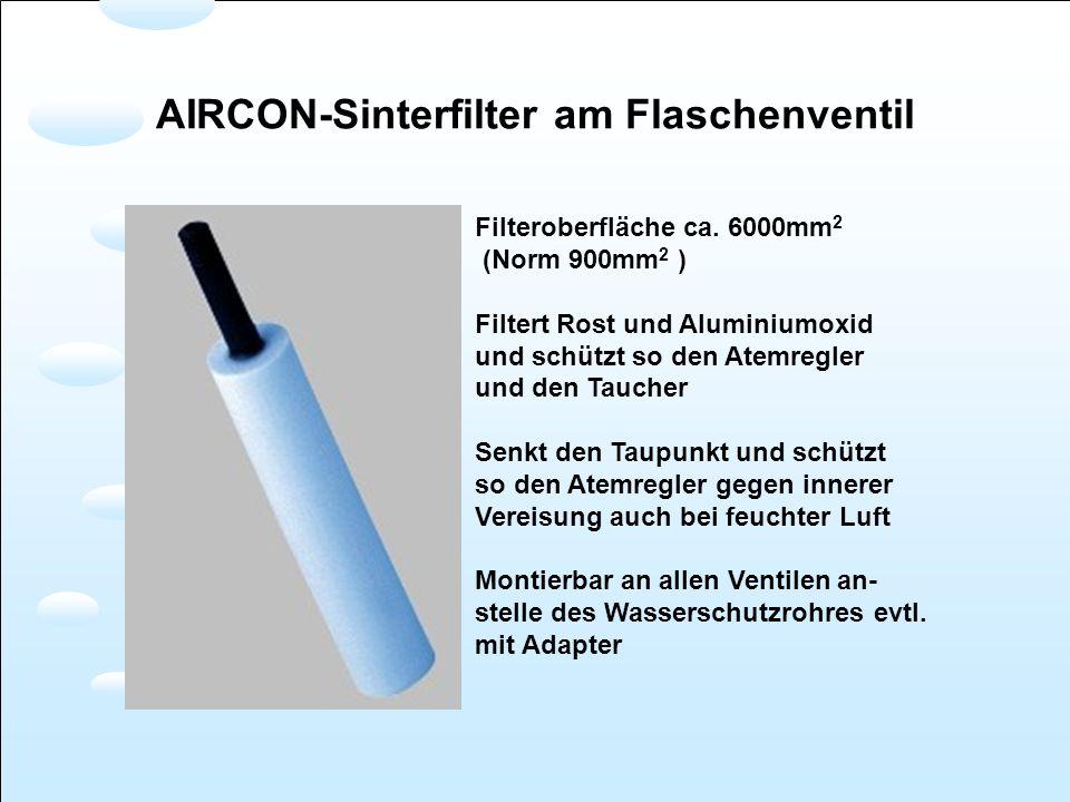 AIRCON-Sinterfilter am Flaschenventil
