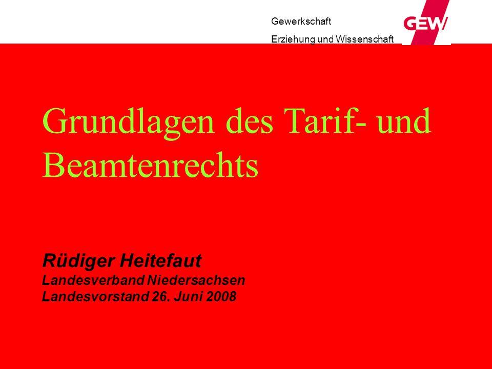 Grundlagen des Tarif- und Beamtenrechts