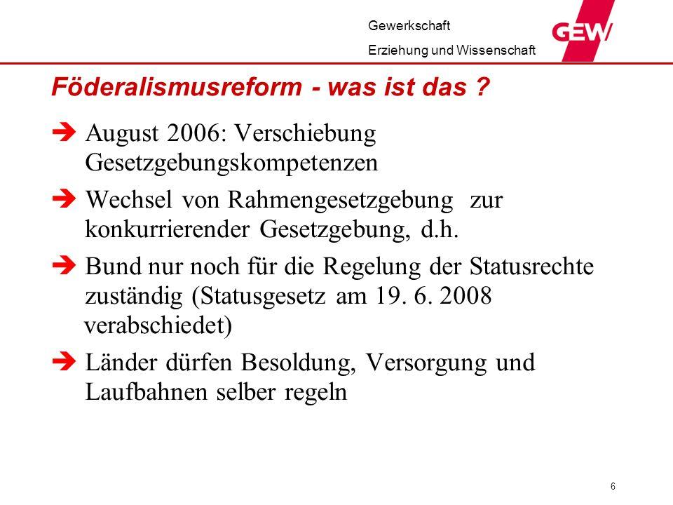Föderalismusreform - was ist das
