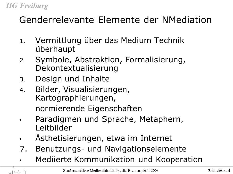 Genderrelevante Elemente der NMediation