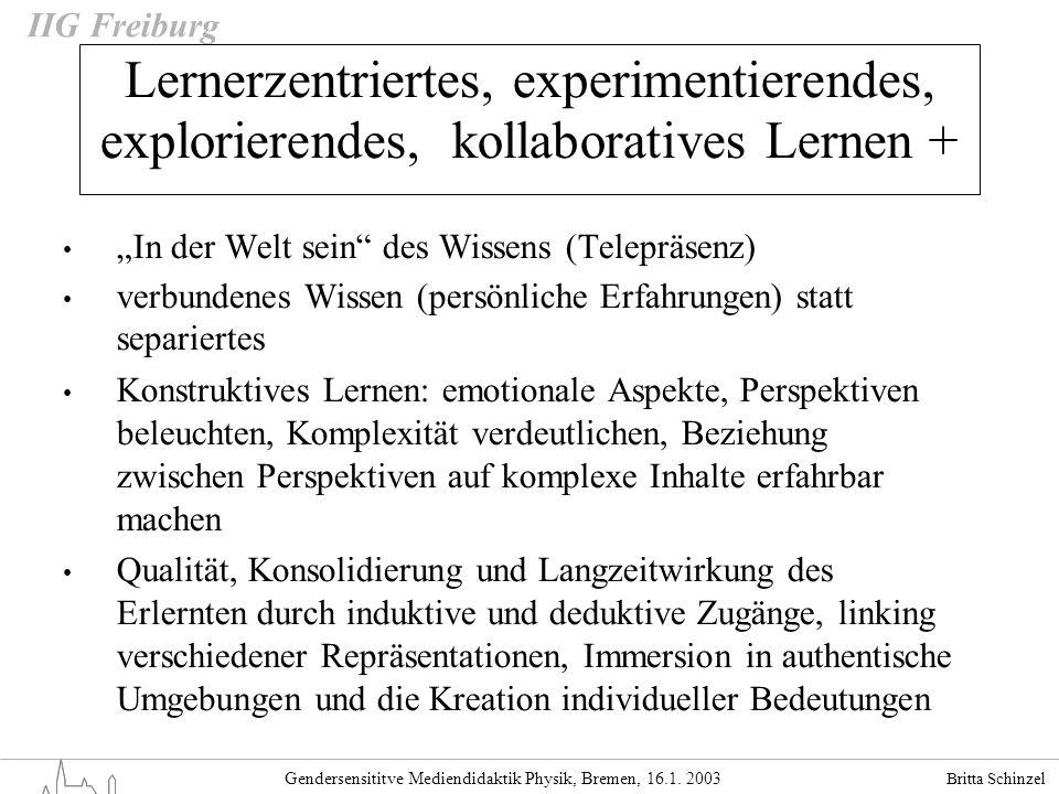 Lernerzentriertes, experimentierendes, explorierendes, kollaboratives Lernen +