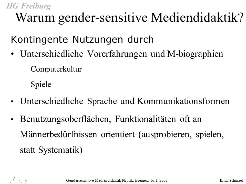Warum gender-sensitive Mediendidaktik