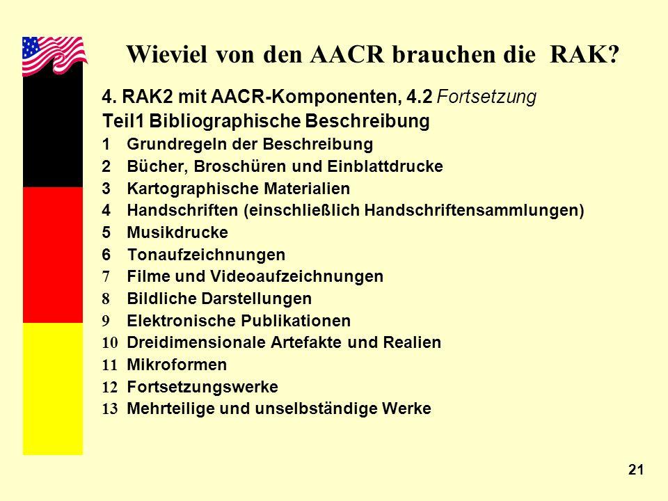 Wieviel von den AACR brauchen die RAK