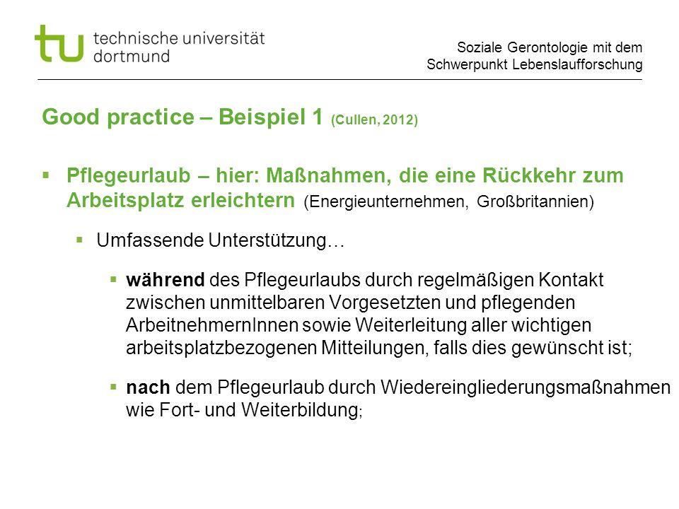 Good practice – Beispiel 1 (Cullen, 2012)