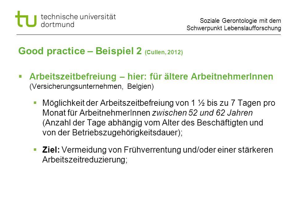 Good practice – Beispiel 2 (Cullen, 2012)