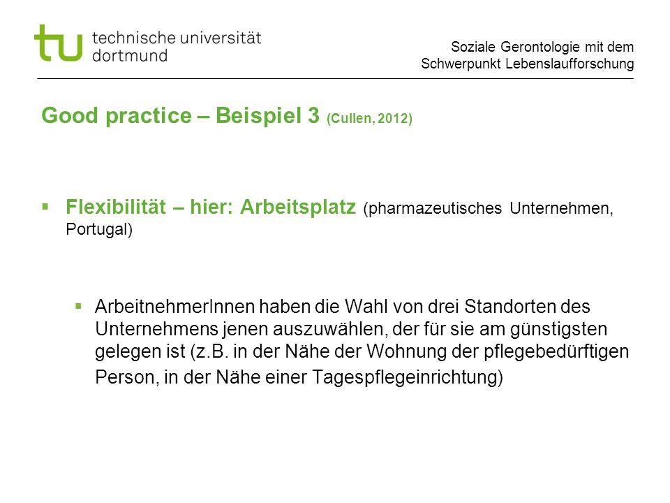 Good practice – Beispiel 3 (Cullen, 2012)
