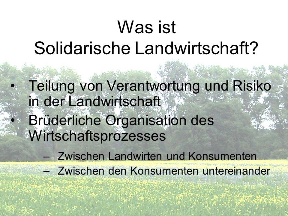 Was ist Solidarische Landwirtschaft