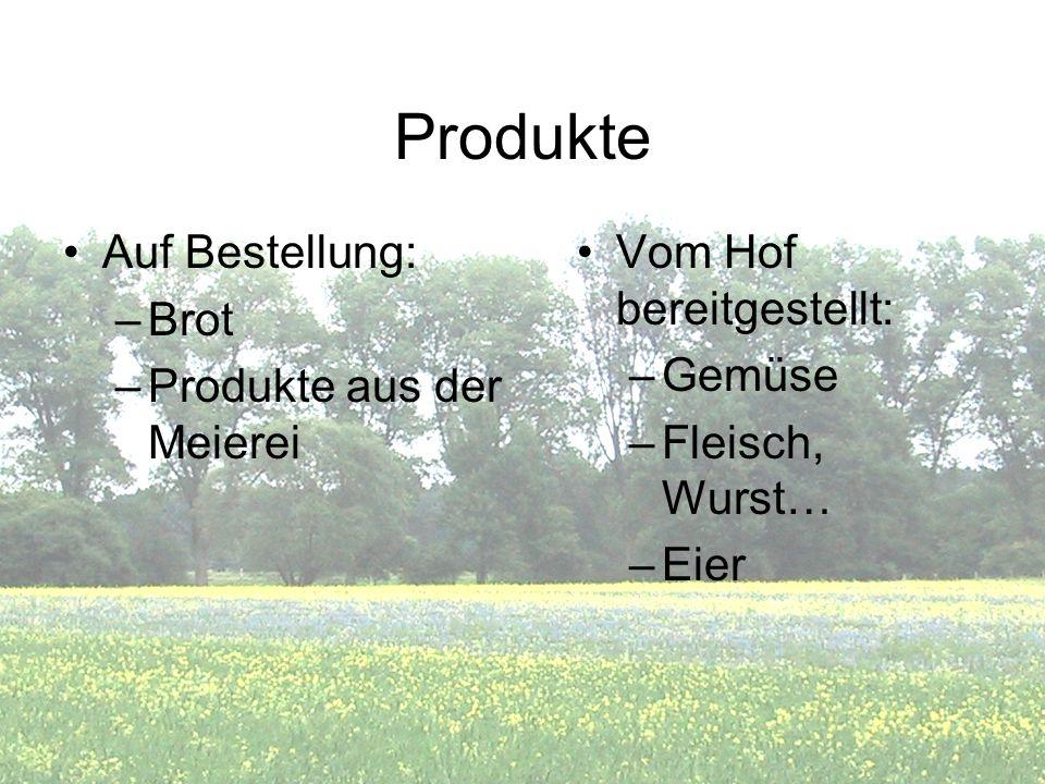 Produkte Auf Bestellung: Brot Produkte aus der Meierei