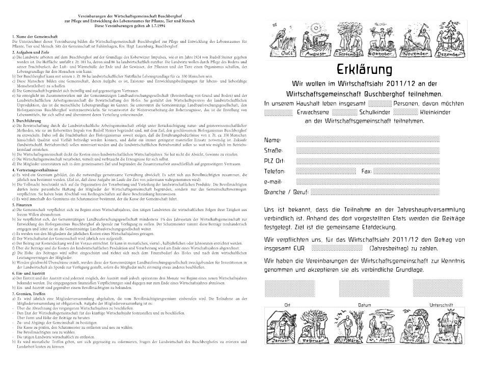 Text der Vereinbarungen