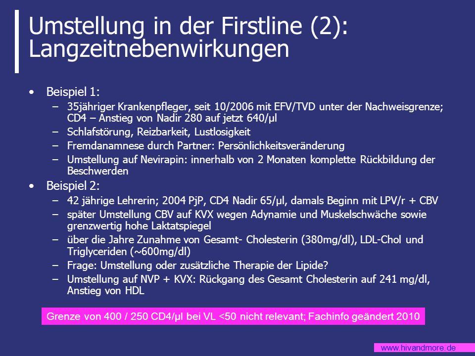 Umstellung in der Firstline (2): Langzeitnebenwirkungen