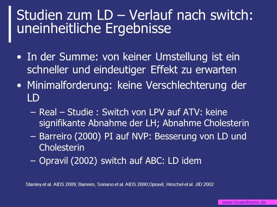 Studien zum LD – Verlauf nach switch: uneinheitliche Ergebnisse