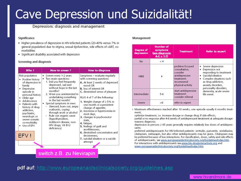 Cave Depression und Suizidalität!