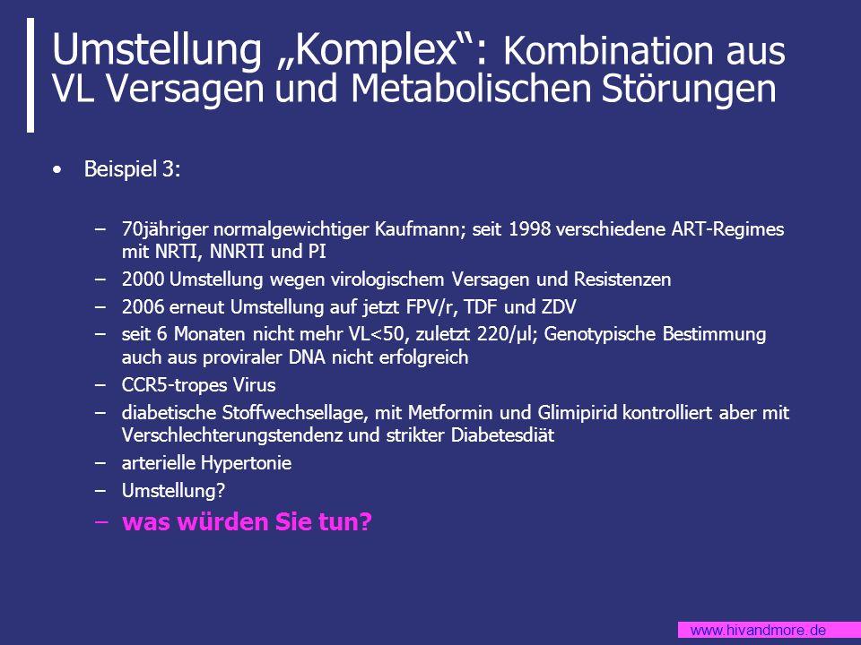 """Umstellung """"Komplex : Kombination aus VL Versagen und Metabolischen Störungen"""