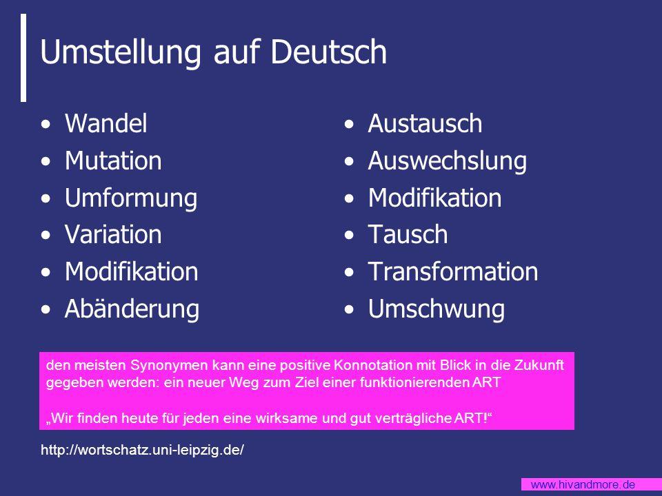 Umstellung auf Deutsch