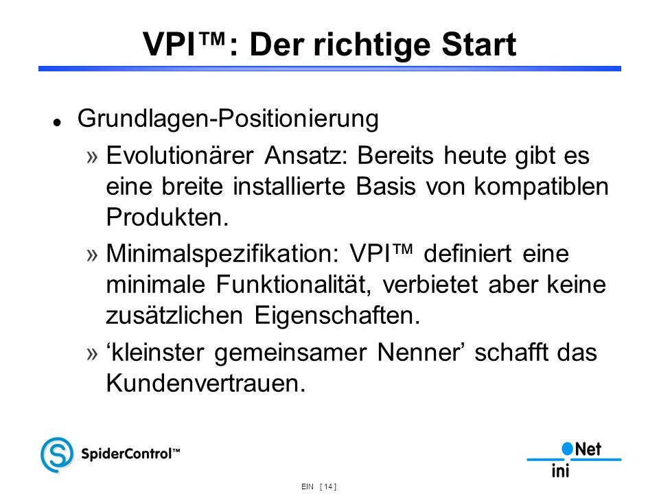 VPI™: Der richtige Start