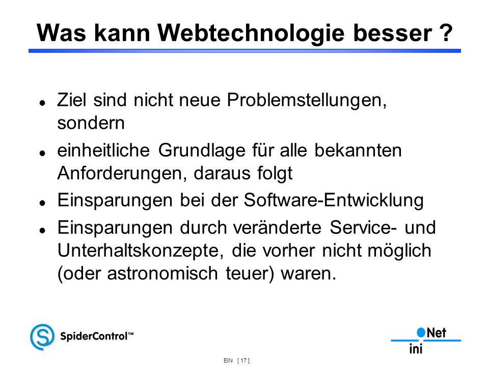 Was kann Webtechnologie besser
