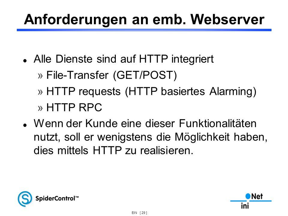Anforderungen an emb. Webserver