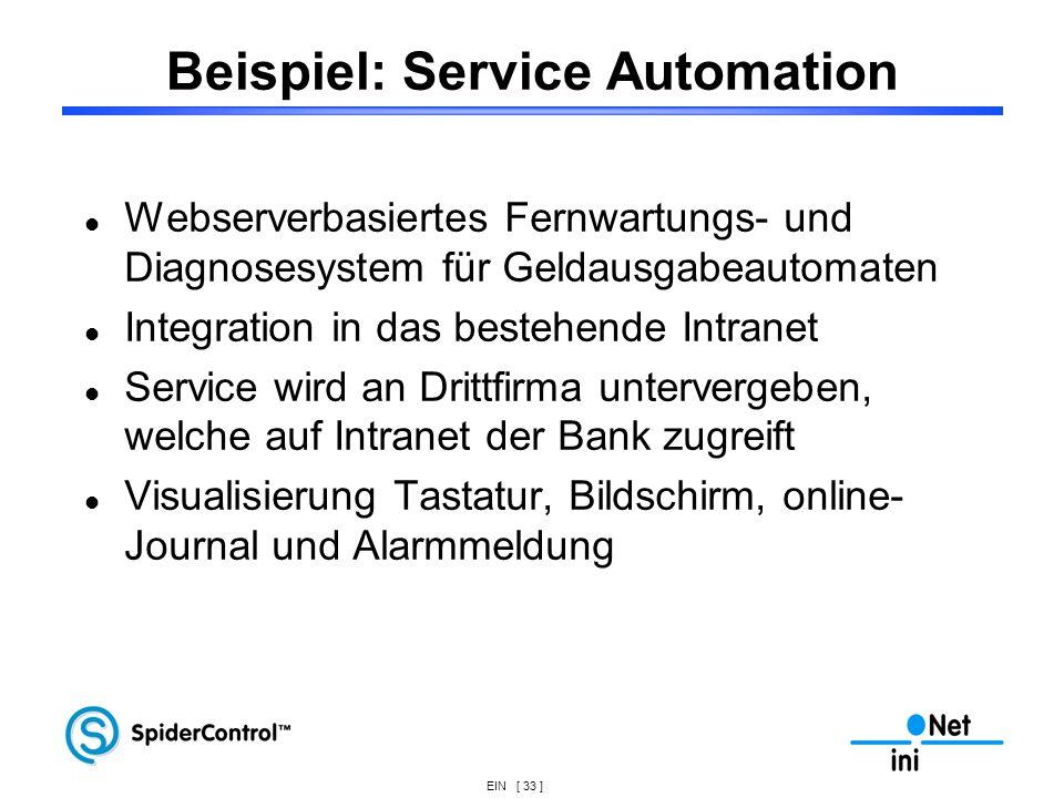 Beispiel: Service Automation
