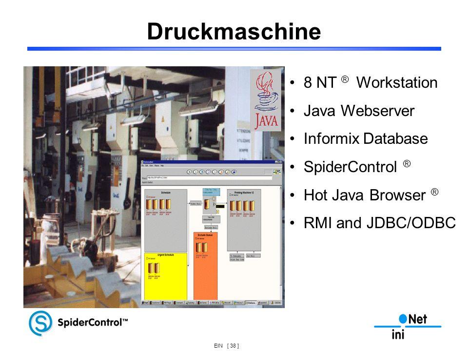 Druckmaschine 8 NT ® Workstation Java Webserver Informix Database