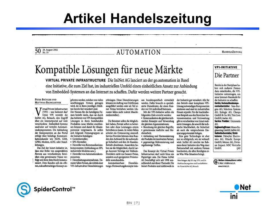 Artikel Handelszeitung