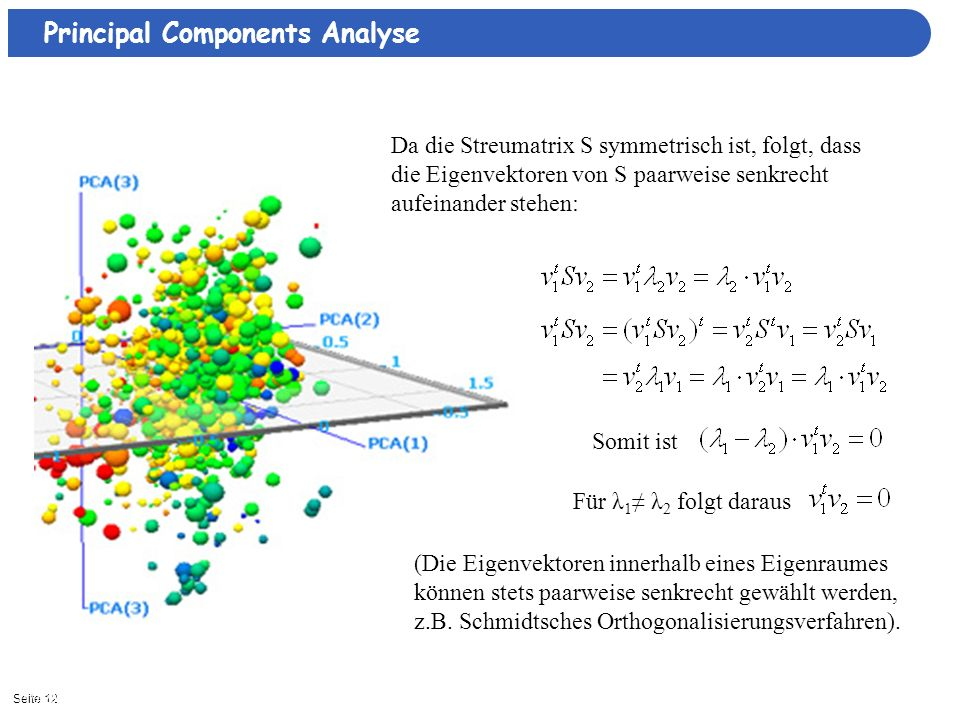 Principal Components Analyse