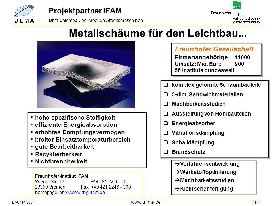 Metallschäume für den Leichtbau...