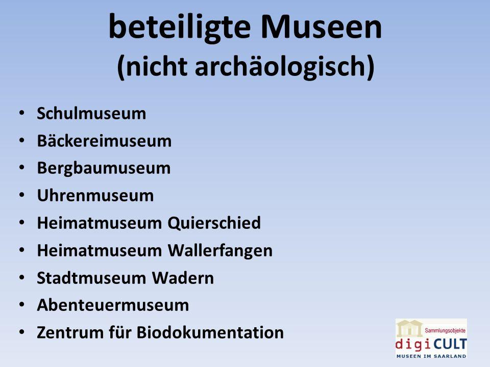 beteiligte Museen (nicht archäologisch)
