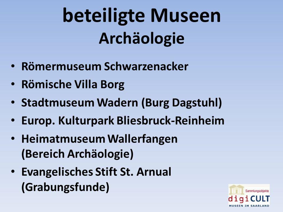 beteiligte Museen Archäologie