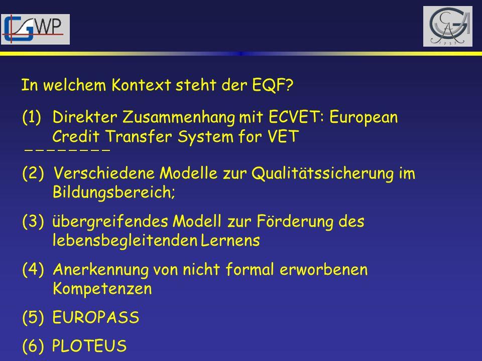 In welchem Kontext steht der EQF