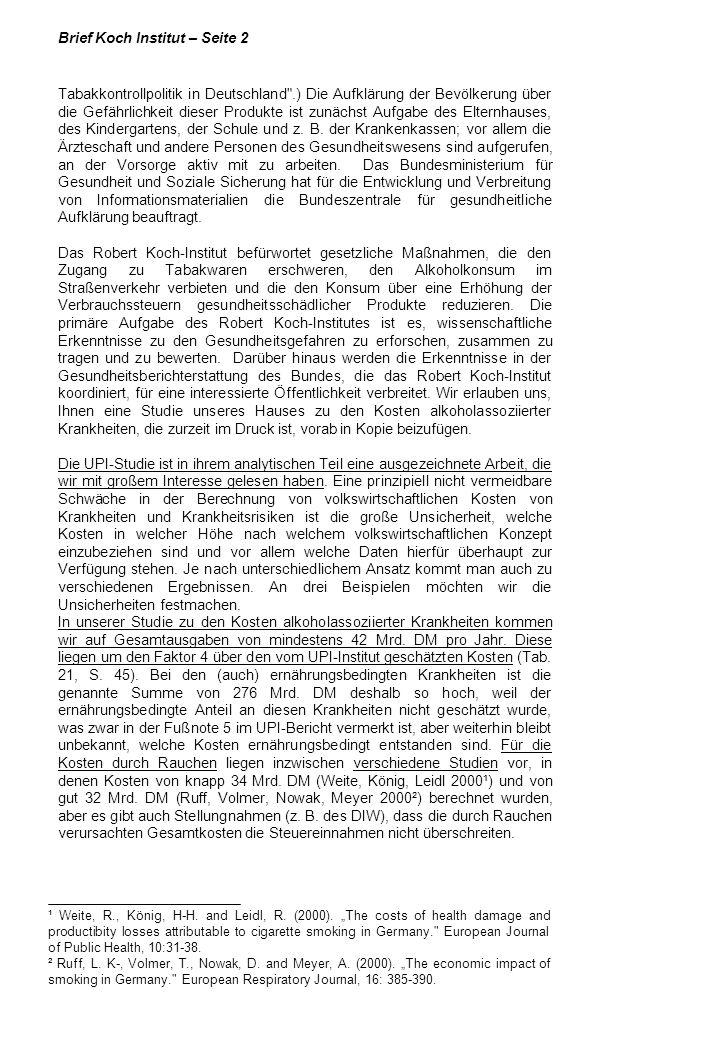 Brief Koch Institut – Seite 2