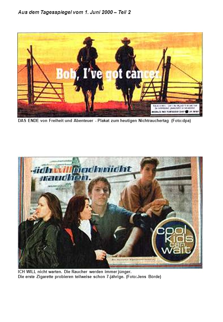 Aus dem Tagesspiegel vom 1. Juni 2000 – Teil 2