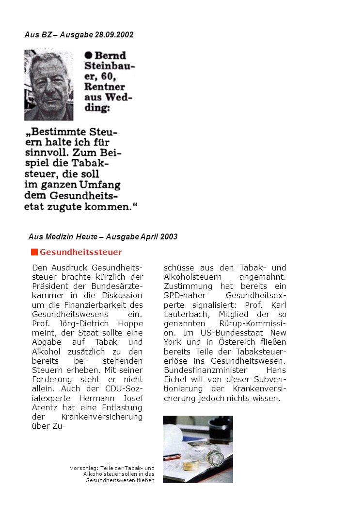 Aus Medizin Heute – Ausgabe April 2003