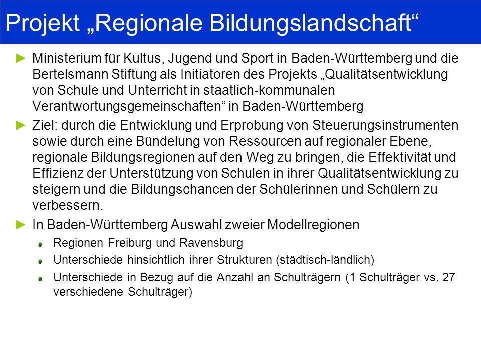 """Projekt """"Regionale Bildungslandschaft"""