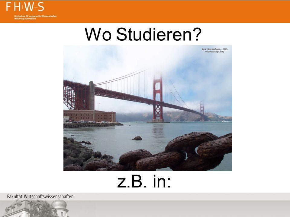 Wo Studieren z.B. in: