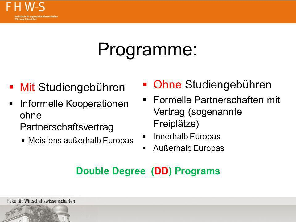 Double Degree (DD) Programs