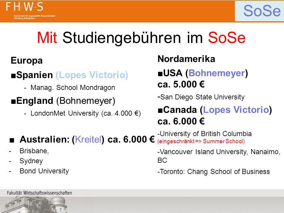 Mit Studiengebühren im SoSe