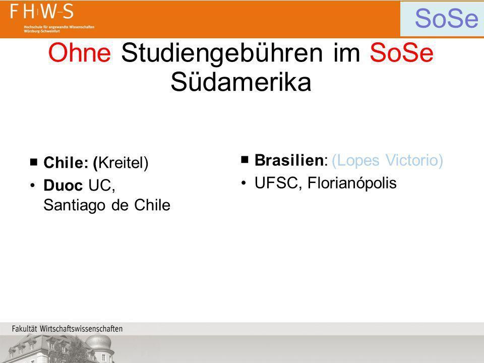 Ohne Studiengebühren im SoSe Südamerika