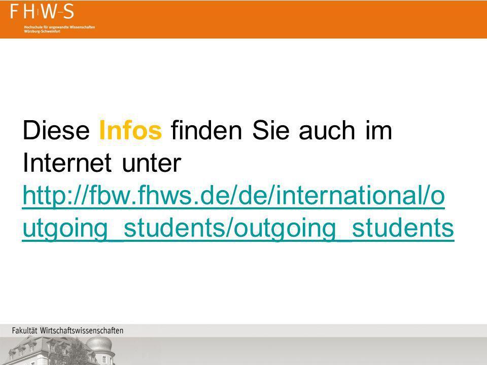 Diese Infos finden Sie auch im Internet unter http://fbw. fhws