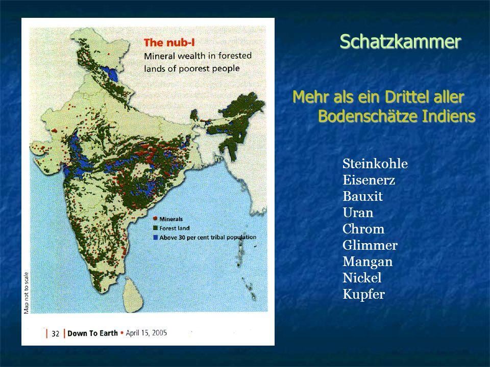 Schatzkammer Mehr als ein Drittel aller Bodenschätze Indiens