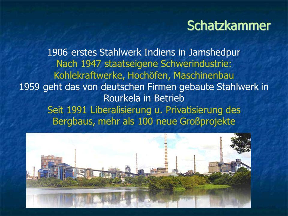 Schatzkammer 1906 erstes Stahlwerk Indiens in Jamshedpur